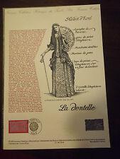 Collection Historique Timbre Poste 1er Jour : 03/02/90 - la dentelle
