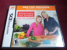 AMERICA'S TEST KITCHEN LET'S GET COOKING NINTENDO DS FACTORY SEALED!!!