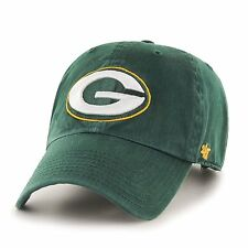Green Bay Packers 47 Brand Clean Up MVP Adjustable On Field Cotton Hat Cap NFL