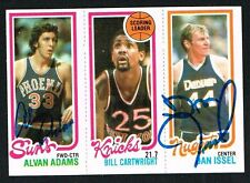 Dan Issel #76 & Alvan Adams #189 signed autograph 1980-81 Topps Basketball Card