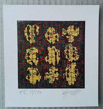 ZHANG YI / CHEUNG YEE - SIGNED LITHOGRAPH ABSTRACT LIMITED EDITION PRINT CHINA
