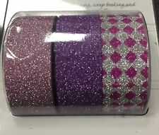 Pink And Purple Glitter Washi Tape Pack Of 3
