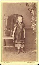 C. Höflinger CDV photo Niedliches kleines Mädchen - Darmstadt 1870er