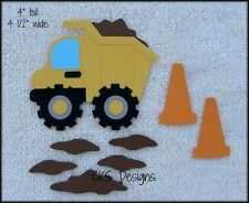 Die Cut Dump Truck Premade Scrapbook Embellishment Paper Piecing CKS Designs