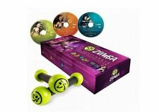 Zumba Fitness Exhilarate Body Shaping System DVD Set with Toning Sticks
