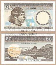 Greenland / Denmark 50 Kroner 2014 UNC SPECIMEN Test Note Banknote Beluga Whale