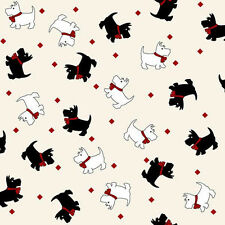 Walk in the Park Scottie Dogs   Reproduction Cotton Quilt Fabric Maywood Bfab