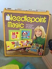 Vintage Mattel Needlepoint Magic Playset 1975 Retro In Box Free Shipping Crafts
