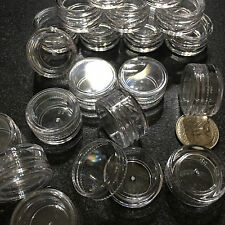 50 Empty Cosmetic Jars Small Plastic 3 Ml Beauty Containers Clear DIY Lip Balm