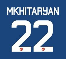 Mkhitaryan Manchester United 2016-17 Europa Away Football Nameset for shirt