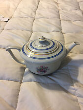 VINTAGE CZECHOSLOVAKIA ROYAL EPIAG FLORAL FINE CHINA TEA POT!