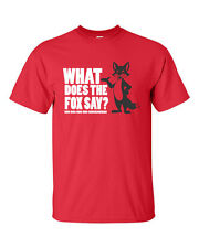 What Does The FOX Say Ring Ding Ding You Tube BLACK FOX  Men's Tee Shirt 554