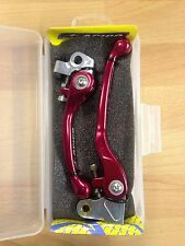 HONDA  CR500  CR 500   1991-2001   FLEXI FLEXIBLE LEVER LEVERS SET RED