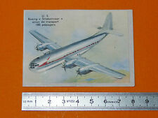 CHROMO BISCOTTES LUC 1952 AVIATION USA BOEING STRATOCRUISER TRANSPORT