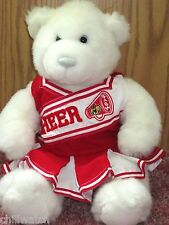BUILD A BEAR  CHEERLEADER BEAR IN RED & WHITE OUTFIT NEVER PLAYED WITH