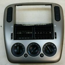 02 03 04 Ford Explorer Mountaineer Silver Radio Bezel w/ Climate Control OEM
