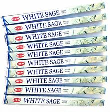 Hem White Sage Incense Sticks  x 10 Boxes 8 per per box Pagan Wiccan Protection