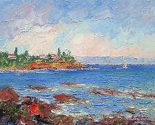 Original Oil Painting Australian Impressionist Artist Enoch Hlisic MORNINGTON