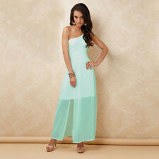 NEW WOMENS SIZE 12 AQUA ONE SHOULDER MAXI DRESS BY TG FASHION LABEL