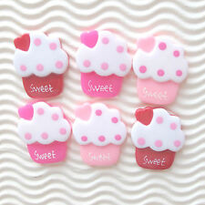 "US SELLER - 12 pcs x (1 1/8"") Resin Ice Cream Flatback Beads/Sweet/Cupcake SB531"