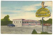 "Richmond VA The ""Richmond Belle"" Diner Linen Postcard"