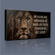 LION 'WHY I'M KING' QUOTE MODERN ICONIC CANVAS ART PRINT PICTURE Art Williams