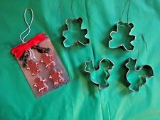 5 Christmas Ornaments Baking Cookie Sheet Gingerbread Man/ Woman Cookie Cutters