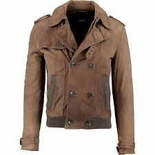 D&G Dolce Gabbana Suede Leather Padded Jacket IT48/US38 /UK38