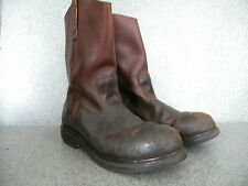 1990's Red Wing Pecos High Top Brown Work Boots Size 10 1/2 B Used-  Good Cond .