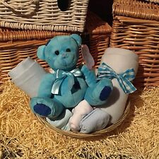 Blue Baby Boy Gift Basket, Hamper, For Baby Shower, Newborn, New Mums