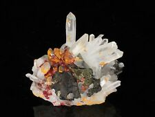 Realgar with Quartz, Sphalerite, Orpiment, Paloma Mine! PERU