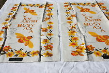 VINTAGE LINEN TOWELS LOT OF 2 BUSY AS A BEE NEW OLD STOCK W/ TAGS