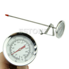 Stainless Steel Oven Cooking BBQ Probe Thermometer Food Meat Gauge 200°C