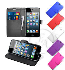 STAND BOOK WALLET LEATHER CASE COVER POUCH FOR APPLE IPOD TOUCH 5 5TH GENERATION