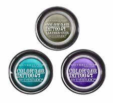 MAYBELLINE COLOR TATTOO BY EYESTUDIO 24HR EYESHADOW LOT OF 3 *ASSORTED COLORS*