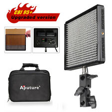 Pro AL-528W Aputure Amaran Brightness 528 LED Video Light +Filter + Bracket kit