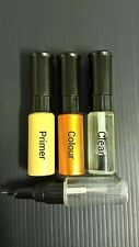 RENAULT TOUCH UP PAINT KIT 3 BOTTLES BRUSH AND PEN MADE TO YOUR COLOUR CODE
