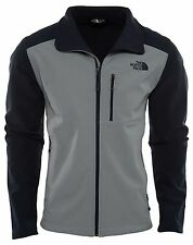 North Face Apex Bionic 2 Mens A2RE7-STJ Mid Grey Navy Soft Shell Jacket Size M