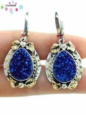 New Arrival! 925 Sterling Silver Earrings Women Druzy Turkish Jewelry E1506