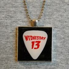 Necklace WEDNESDAY 13 guitar pick W13 Murderdolls Transylvania 90210 Tour 2005