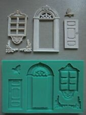 Silicone Mould WINDOW AND DOOR Sugarcraft Cake Decorating Fondant / fimo mold