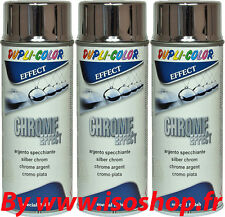 Dupli Color Peinture en Aérosol Teinte Chrome Lot spray de 3 x 400 ml