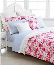 Tommy Hilfiger Rose Cottage Girl's Twin Duvet Set Pink White Shabby Chic Floral