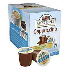 Grove Square Cappuccino French Vanilla 24 pcs Single Serve Keurig K-Cup Brewer .