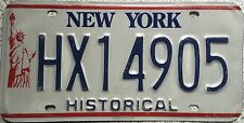 FREE UK POSTAGE New York Liberty Historical License Number Plate HX14905