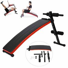 New Foldable Sit Up Bench AB Abdominal Crunch Exercise Board Fitness Home Gym UK