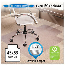 Es Robbins 45x53 Lip Chair Mat Multi-Task Series AnchorBar for Carpet up to 3/8""