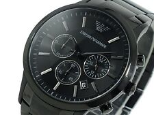 Emporio Armani AR2453 Full Black Chronograph Men's Watch + Original Box