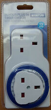 24hr Plug In Mechanical Timer Switch Additional Second Socket Plug Handy Item