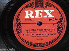 78rpm BILLY COTTON & BAND ma i miss your apple pie / elmers tune